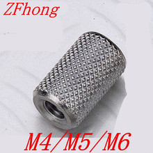 20pcs/lot M4 M5 M6 stainless steel Long extend knurled hand tighten coupling nut