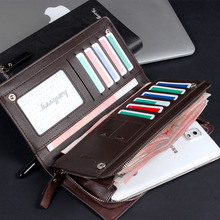 Luxury Brand Business Long Wallet Men Leather Coin Pocket Purse Men Wallets Credit Card Holder Wallet Large Capacity Wallet W082