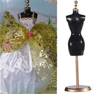 New Fashion Display Holder For Toy Doll Dress Clothes Gown Mini Stand Mannequin Model