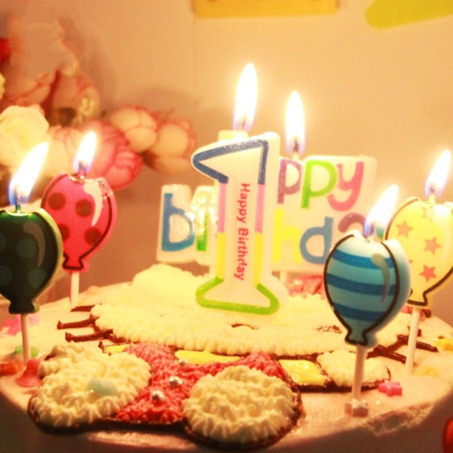 Colorful Happy Birthday Number Candle Kids Adult 1 2 3 4 5 6 7 8 9 0 1st First Anniversary Party Decoration Supplies