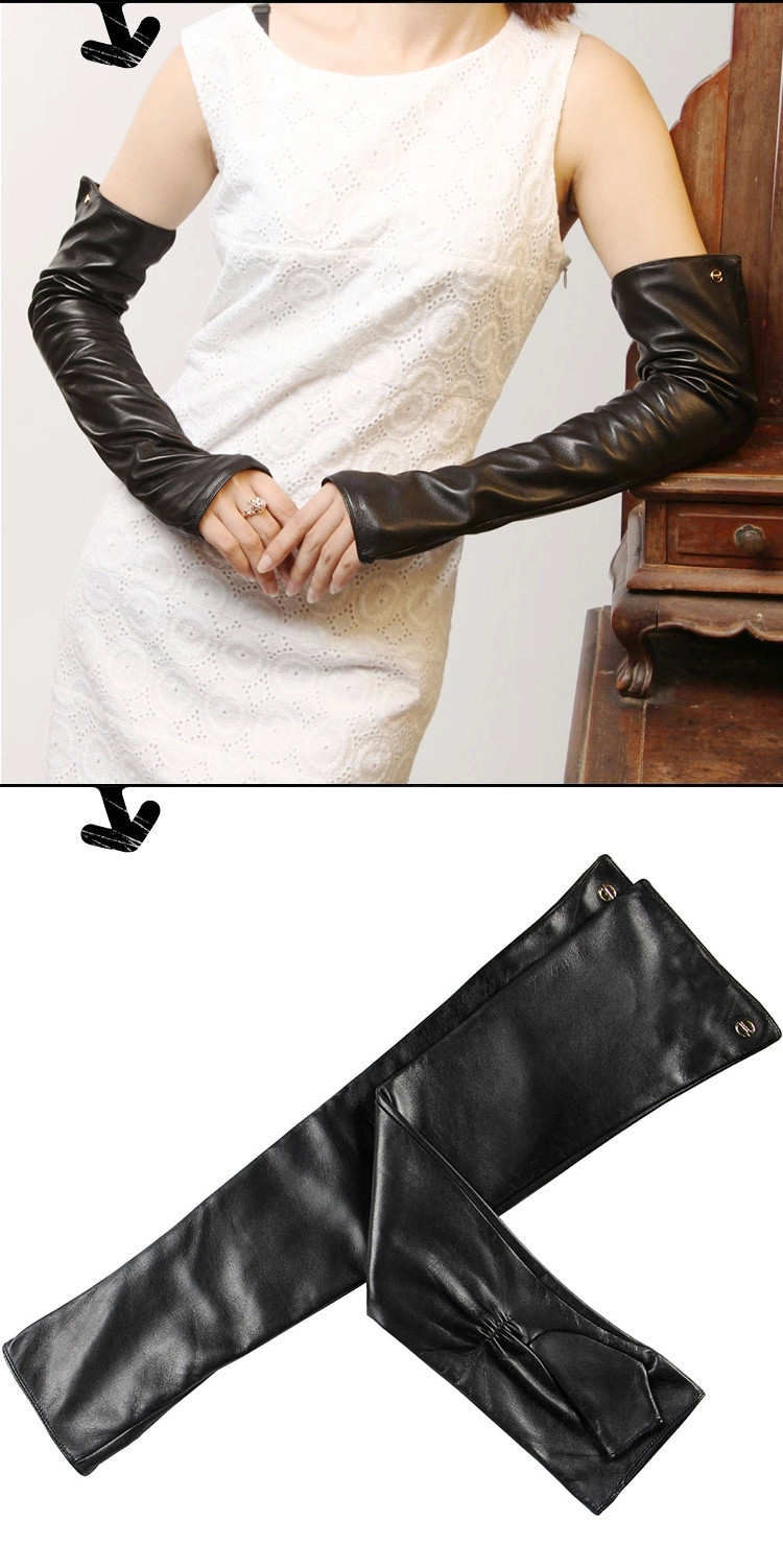Leather Women 49cm Gloves 5