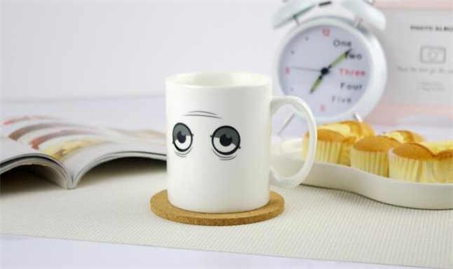 Good morning!Magical Hot Cold Heat Color Change Mug Wake-up Sensitive Ceramic Coffee Mug Novelty Gift