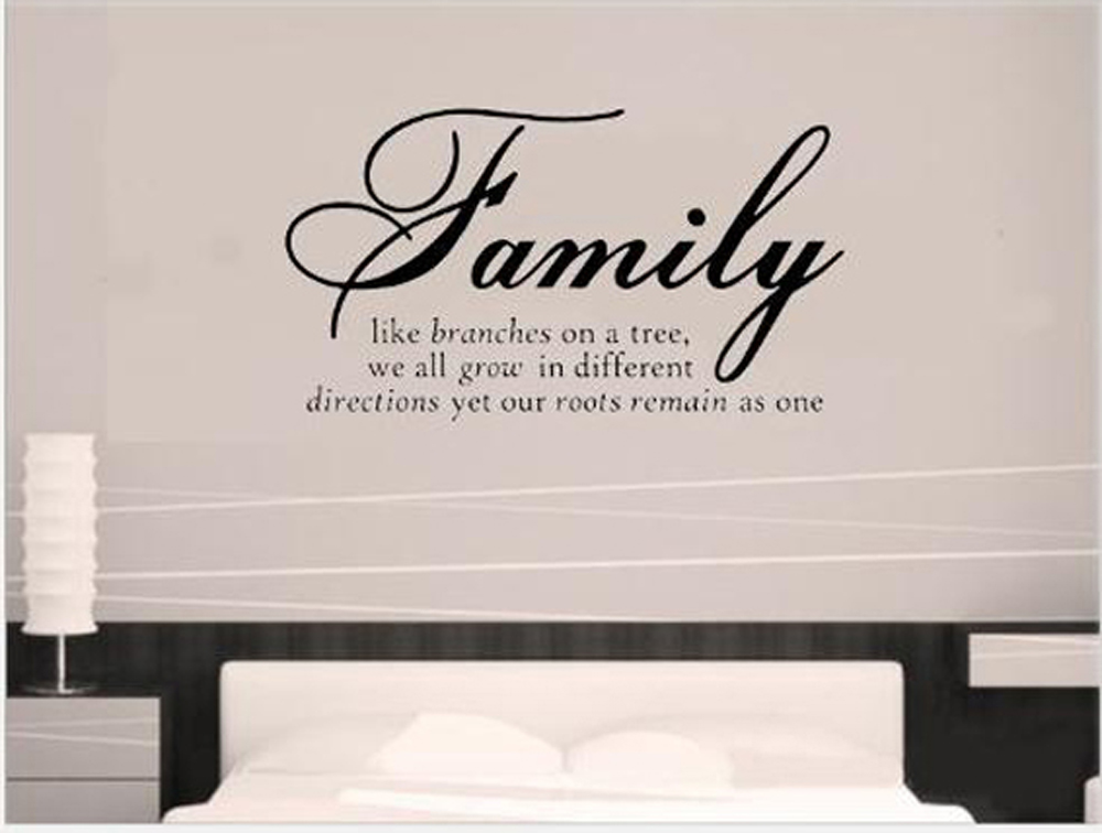 Family like branches on a tree quotes and sayings wall for Living room quote stickers
