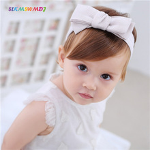 SLKMSWMDJ Cotton Girl Headdress Child Hair Accessories Baby Bow Hairband suitable for 3 months -12 2 colors