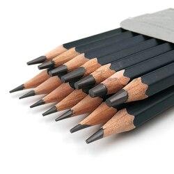 14 pçs/set Profissional de Desenho Conjunto de Lápis HB 2B 6H H H 3B 2 4 4B 5B 6B 10B 12B 1B Pintura Desenho A Lápis de Papelaria Da Escola
