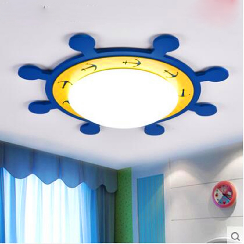 LED Mediterranean Style Children Ceiling Lamps Home Lighting With European Style Bedroom Study LED Lamps Lamparas De Techo tiffany mediterranean style peacock natural shell ceiling lights lustres night light led lamp floor bar home lighting
