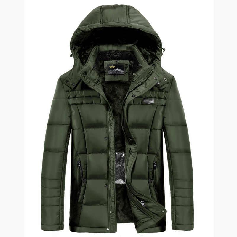 2018 AFS ジープメンズパーカースマート加熱温度制御可能なネックウエスト保護男性肥満厚みの冬ジャケット 5XL
