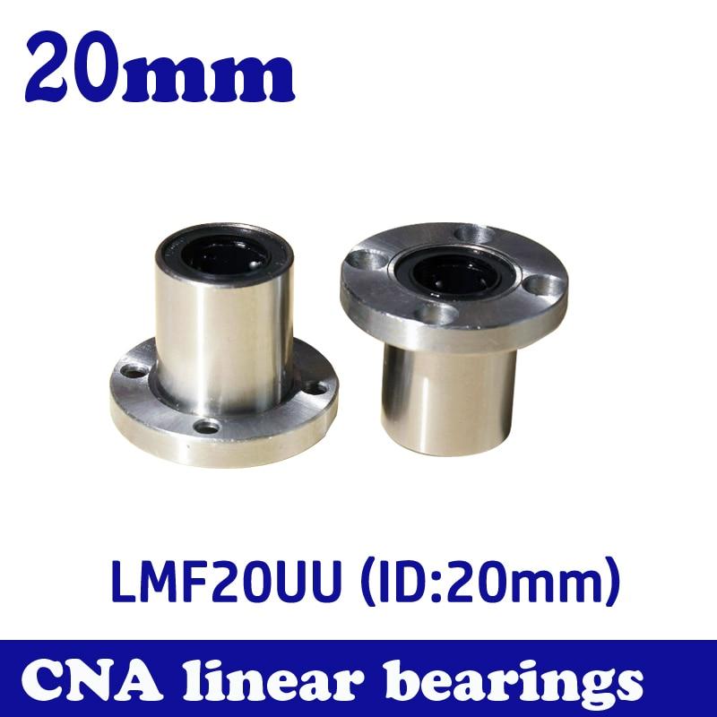4pcs/lot LMF20UU 20mm flange linear ball bearing for 20mm linear shaft CNC Free Shipping 4pcs new for ball uff bes m18mg noc80b s04g