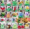 Kawaii Bonito brinquedos Plants VS Zombies Plantas Peashooter boneca macia crianças Planta pelucias brinquedos Bonecos de Pelúcia macia boneca de brinquedo