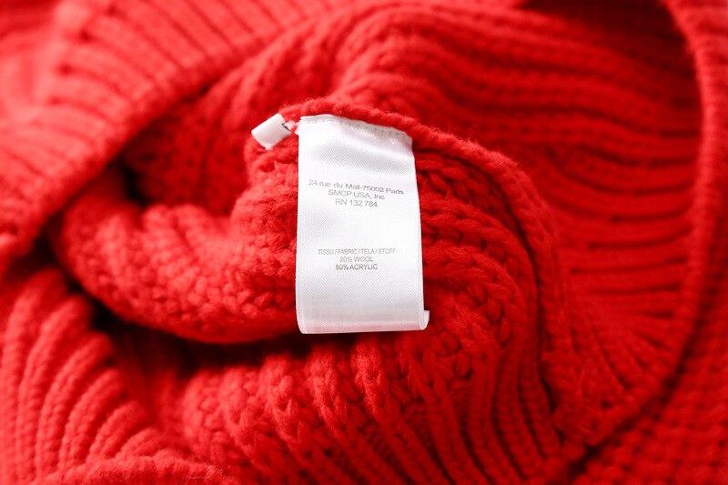 Mélange Pull m Manches Tricot Épais Mode Chauve Chandail Femmes Laine S souris De Manteau l Nouveau EYxq46F6