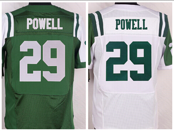 Men's #29 Bilal Powell Jersey Elite Green/White Stitched Name And Number!