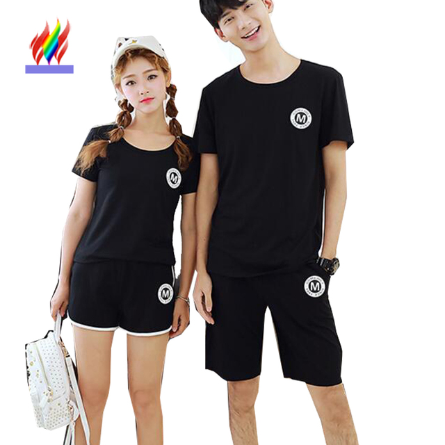 Korean Matching Couple Clothes For Lovers Men Women Summer Holiday