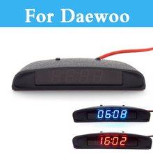 12 V 3 En 1 Coche Estilo Reloj Digital Termómetro Tiempo Volt Batería Para Nubira Daewoo Winstorm Temp Sens Tosca Matiz Nexia