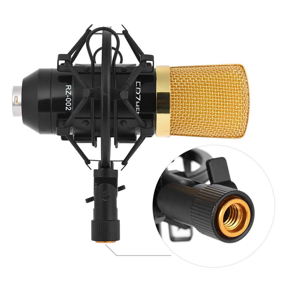 Prix pour Professionnel Radiodiffusion Studio D'enregistrement Microphone À Condensateur Mic Kit avec Shock Mount Réglable Suspension Ciseaux Bras Stand