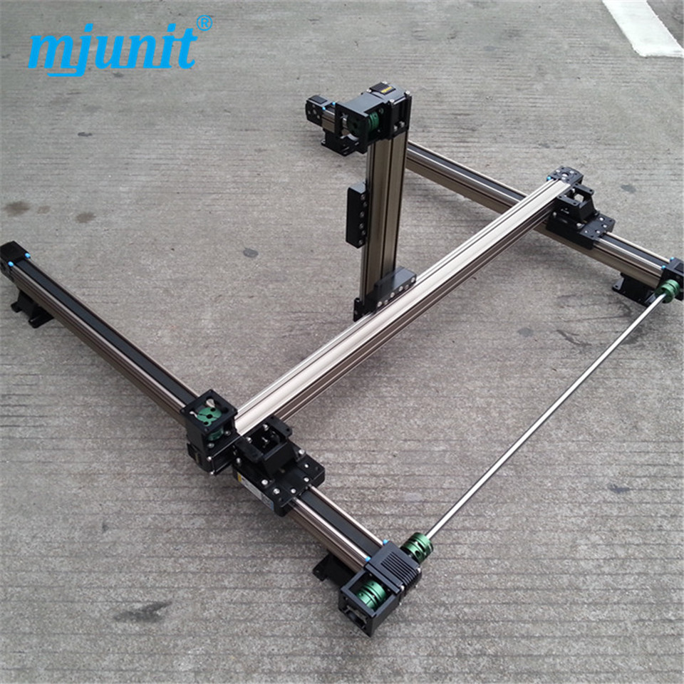 Linear Shaft Support Rail Nema 23 XYZ stage manual actuator medical motor electric guideway toothed belt driven belt driven linear slide rail belt drive guideway professional manufacturer of actuator system axis positioning