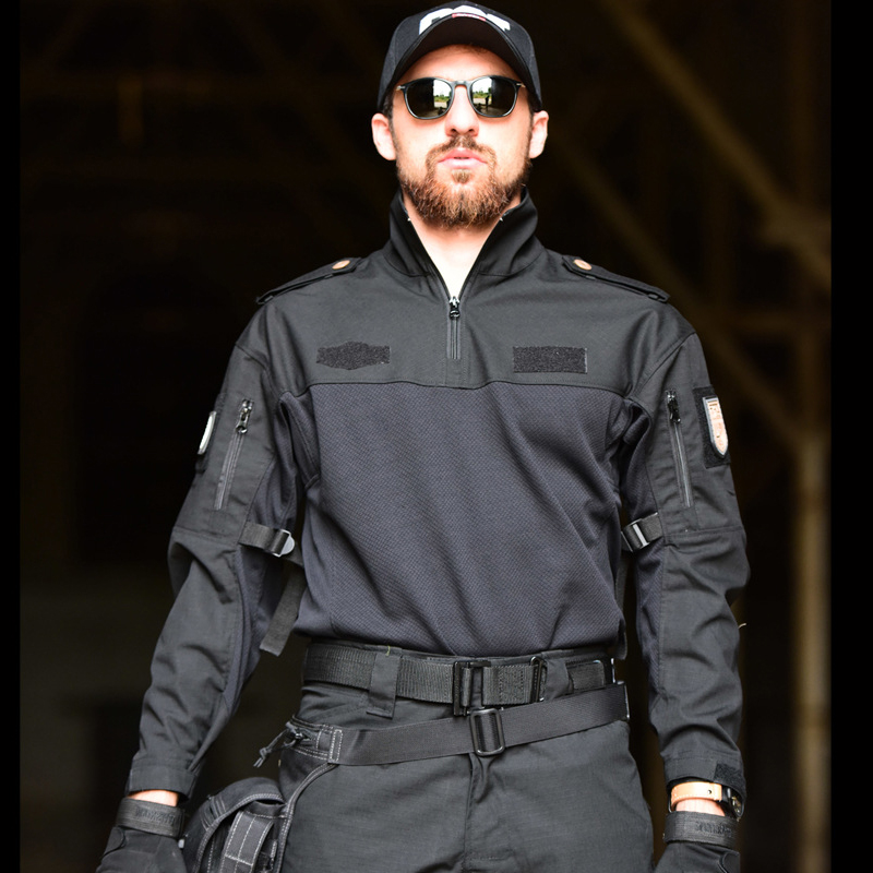 Men's Sets Cotton Military Uniform Shirt Men Army Pants Airsoft Paintball Tactical Shirts Suit Camo Training Clothes Men's Pant - 2