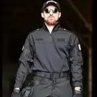 Set di Cotone Uniforme Militare degli uomini Della Camicia Degli Uomini di Pantaloni Militari Airsoft Paintball Tactical Camicette Vestito Camo Vestiti di Formazione degli uomini di pant - 2