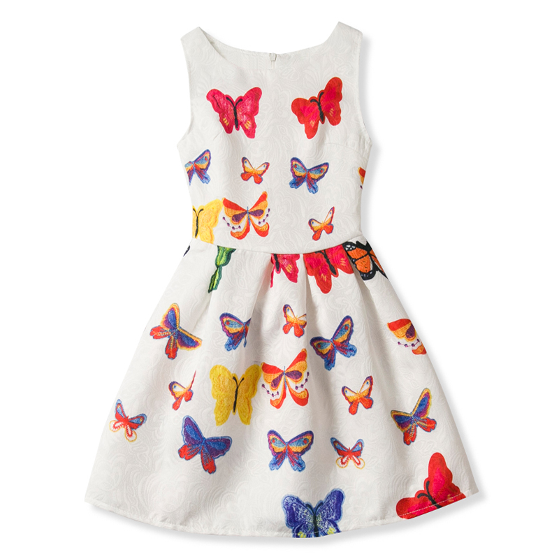 Online Shop Dresses For Girls 2018 Flower Printed Princess Dress Children  Party Baby Birthday Outfits Teenage Girls Kids Clothes For 6-12Yrs  370577bc21f4