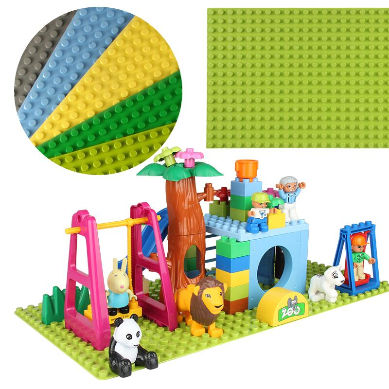 Hot Big Size Blocks Base Plate 32*16 Dots 51*25.5 cm Baseplate DIY Building Blocks Toys For Children Compatible Legoed Duploed bulk baby blocks big building blocks toys 2 2 2 4 4 8 8 8 plate compatible with duple diy toys baseplate