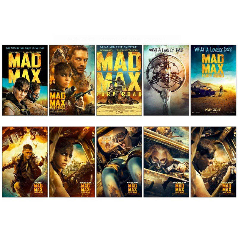 10 Pcs/lot Mad Max 4 Movie Poster Souvenir Card Sticker Diy Scrapbooking Decoration Planner Stickers Pack Bomb 1332 Price Remains Stable