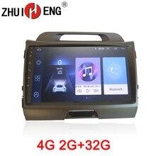 ZHUIHENG 2 din car radio Multimedia for KIA SPORTAGE R 2010-2011 dvd player GPS navi accessory with 2G+32G 4G internet