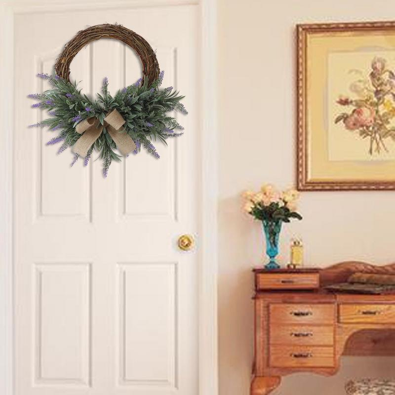 Artificial Garland Fake Flower Ornament Wreath Door ...