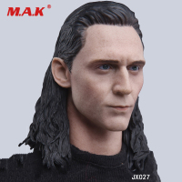 1/6 Scale Male Figure Accessory JX027 Iron Man Loki Head Sculpt Carved with Hard Hair Model for 12'' Action Figure Body