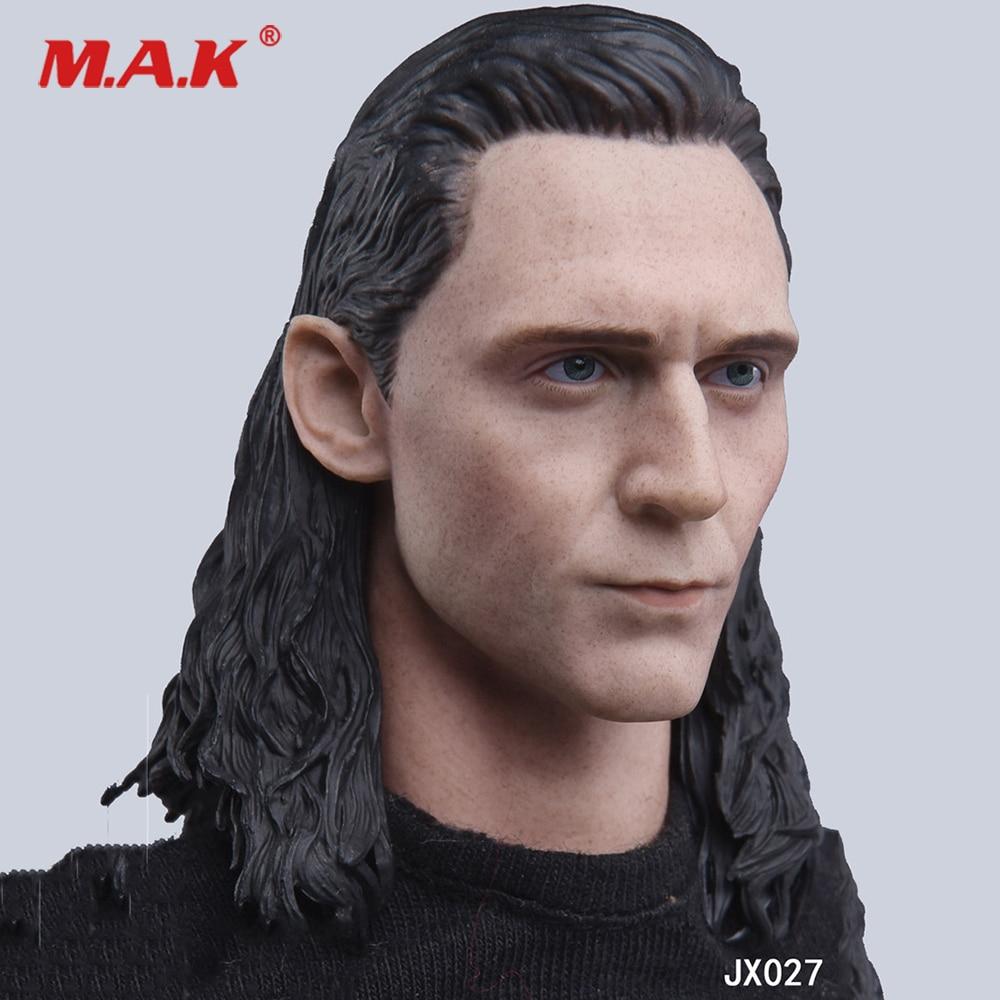 4f0453a2b7 Escala 1 6 hombre figura de JX027 Hombre de Hierro Loki cabeza Sculpt  tallado con modelo de cabello para 12