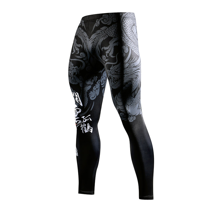 ZRCE 3D Chinese Style 3D Printing Gym Tight Leggings Breathable Quick Drying Anti-pilling Man Trousers Yoga bodybuilding Pants