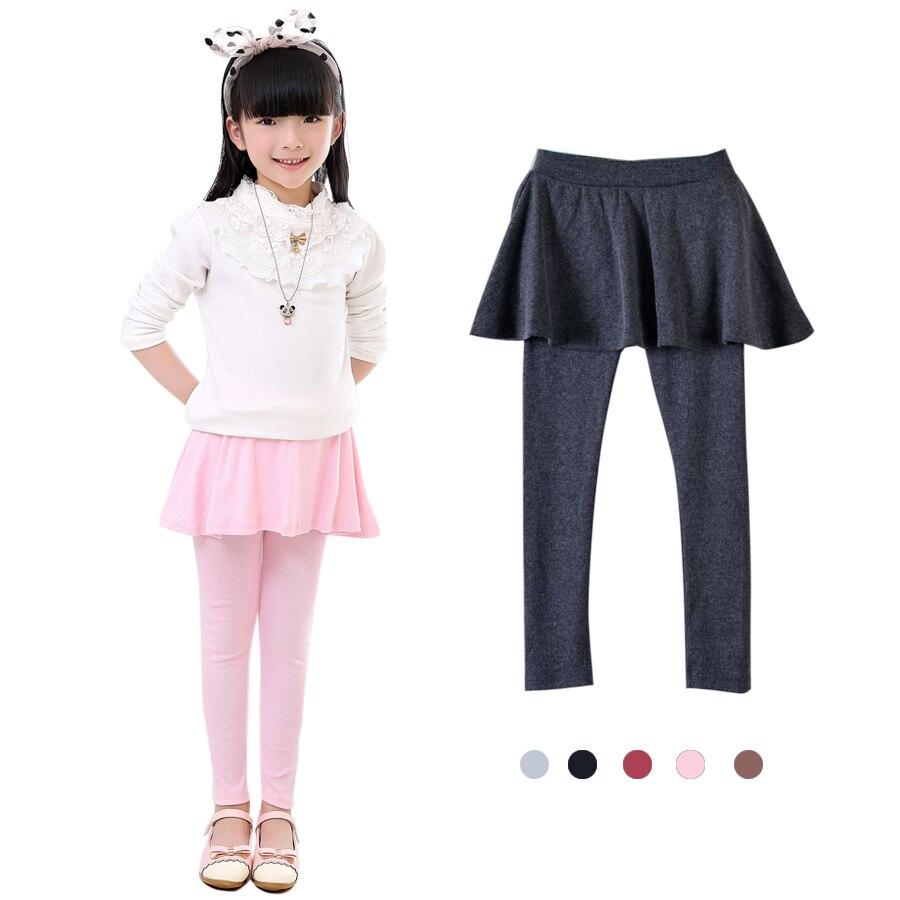 Nuevo primavera niña al por menor legging niñas falda-Falda pantalones de falda de Niña Pantalones de bebé niños leggings falda-pantalón falda pastel Q2305