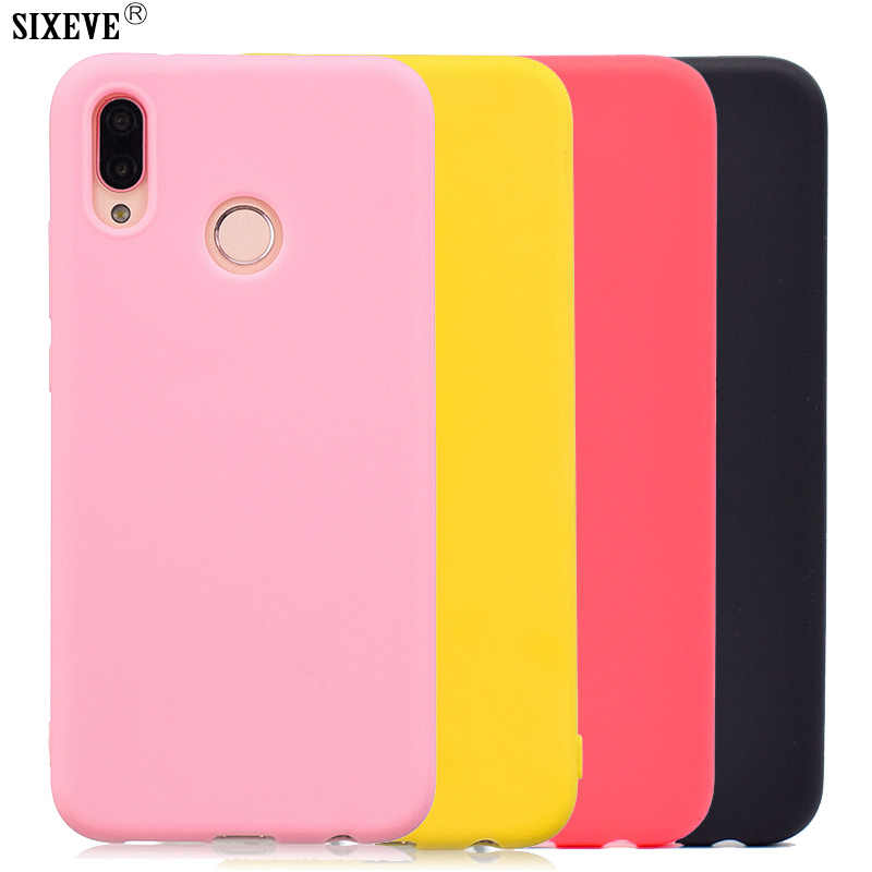 SIXEVE Soft Silicon Case For Huawei P8 P9 P10 P20 Pro P9Lite GR3 2017 Honor 9 Lite Mate 10 P Smart Y9 2018 Shockproof Back Cover