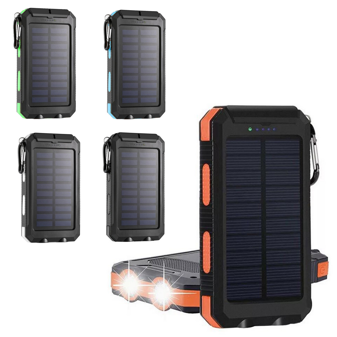 Multifunction Solar Mobile Power Supply Kit No Battery LED Solar Panel Charger Storage Box Outdoor Portable Power Bank Case