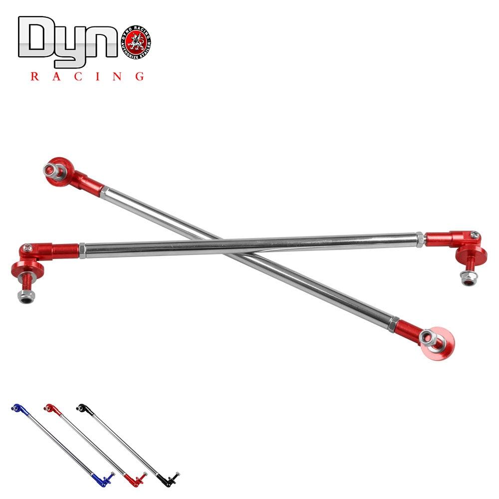 2X Bumper Protector Lip Rod Splitter Strut Tie Bar Support Kit Front Rear Blue P
