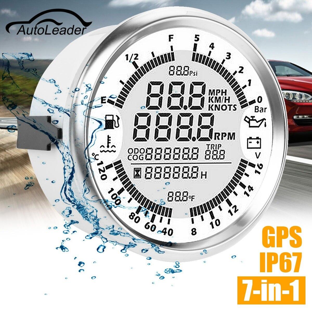 Autoleader 85mm Tachimetro GPS Manometro Dell'olio Carburante Gauge Contagiri Velocità Barca Auto FAI DA TE