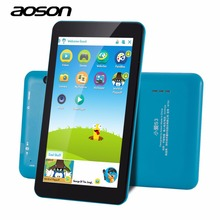 Sale Blue color AOSON M753 7 Inch kids Tablet PC Android 6.0 Marshmallow Quad-core IPS HD Touch Screen 1024*600 1GB+16GB dual camera