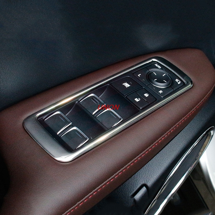 For <font><b>Lexus</b></font> <font><b>RX200T</b></font> RX450H 2016 2017 2018 Chrome Window Switch Panel Cover <font><b>RX200t</b></font> RX450h AL20 Car Accessories Car Styling Stickers image