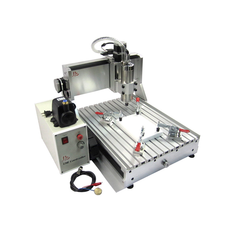 2200W 2.2KW water cooled spindle 3axis mini cnc milling machine 3040 4axis yoocnc 4030 router machine cnc 5axis a aixs rotary axis t chuck type for cnc router cnc milling machine best quality