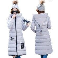 Женская Пуховик/пальто хлопка 2017 должны иметь длинные одежда теплая одежда в зимней моды куртка бесплатная доставка XF147