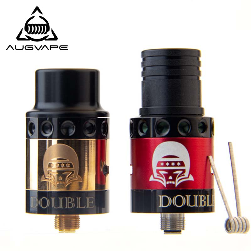 Augvape Double Vision RDA Atomizer 22mm Diameter 304 Stainless Steel Decks Interchangeable Easy to Build Vape Tank RDAAugvape Double Vision RDA Atomizer 22mm Diameter 304 Stainless Steel Decks Interchangeable Easy to Build Vape Tank RDA