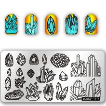 Rectangle Nail Art Stamp Stamping Plates Template Irregular Three-Dimensional Image Transfer Manicure Polish Plate ZJOY-011