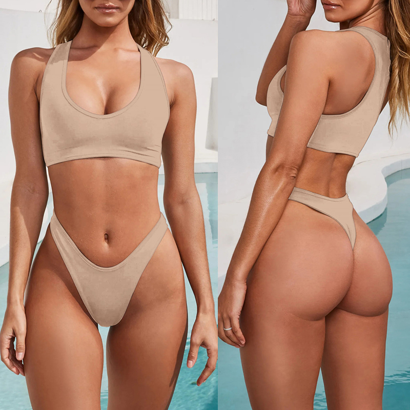 Athletic Sports Style Thong Two Piece Bikini 4