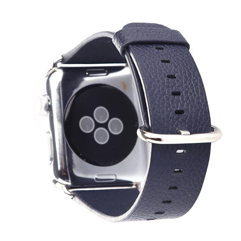 FOHUAS loomanahast ehtsast nahast rihmaga vöötlint Apple Watchi - Kellade tarvikud - Foto 4