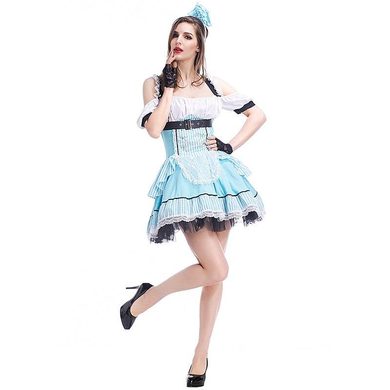 Alice In Wonderland Ladies Fancy Dress Fairytale Book Week Womens Adult Costume