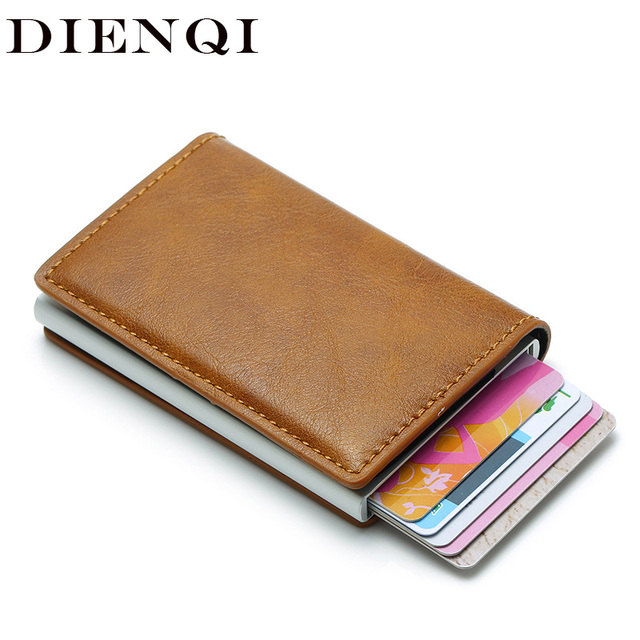 DIENQI Rfid кошелек держатель кредитной карты наклейка визитная карточка карманные деньги держатель карты пропуска держатель металлический де...