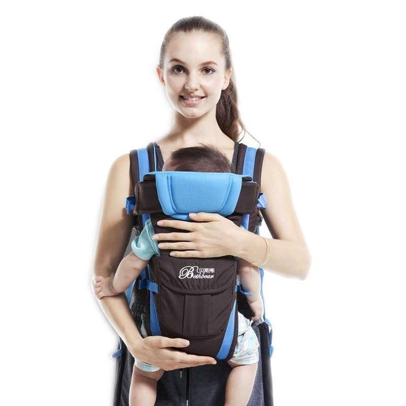 0-2 Years Ergonomic Baby Carrier Front Facing Kangaroo Stretchy Sling Hipseat Infants Manduca Baby Backpack Pouch Wrap KF022-1