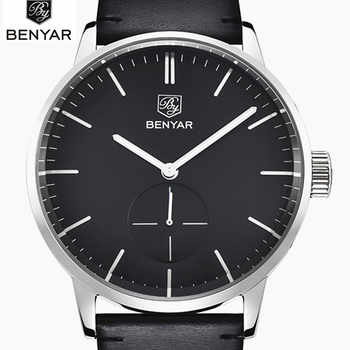 2019 Top Luxury Brand Benyar Men Sports Watches Men's Quartz Clock Man Leather Army Military Wrist Watch Relogio Masculino - DISCOUNT ITEM  90% OFF All Category