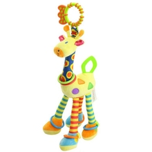 37cm Giraffe Activity Spiral baby bed pram hanging toys baby stroller toy infant gifts plush product 2017 New arrival j2