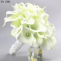 Bouquet de mariage Fashion High Quality PU fake flowers bridal bouquet white artificial Calla Lily wedding bouquet for brides