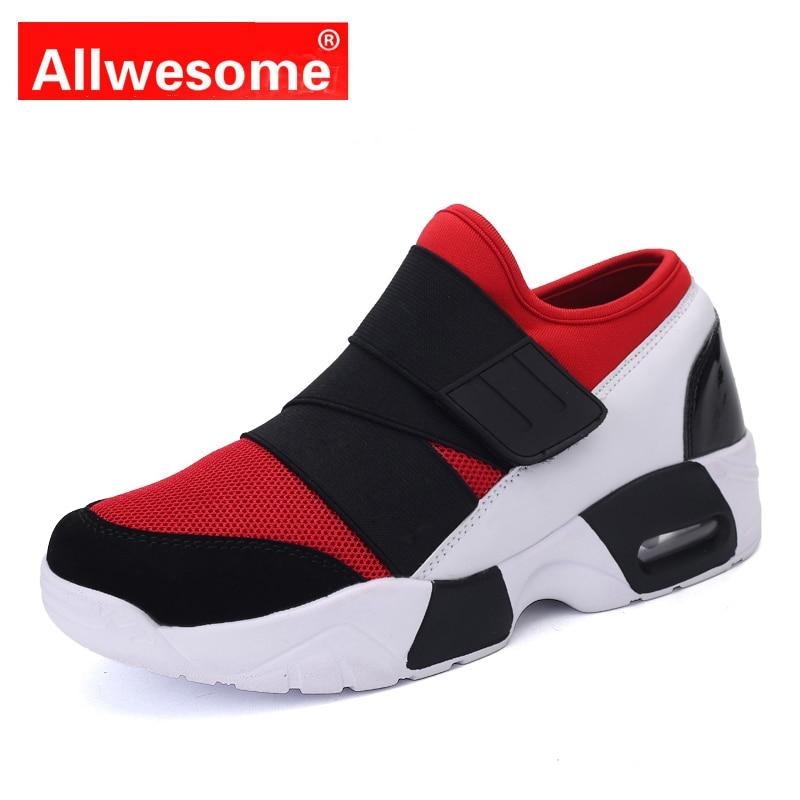 3f2b9ab4721 Allwesome Unisex Casual Herren shuhe zapatillas mujer transpirable  plataforma blanco Zapatillas Zapatos Tenis Masculino rojo zapatos para  hombres