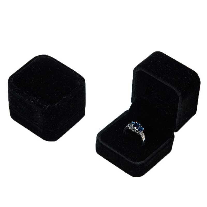 1pc Velvet Ring Box Jewelry Bo Elegant Engagement Wedding Gift Earrings Display Storage Holder Ng Case